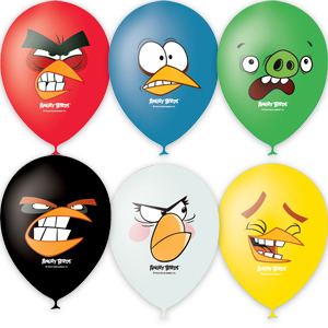 "Шар ""Angry Birds Faces цв"" 12""/30 см"