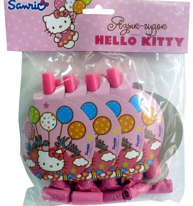 Язычок-гудок Hello Kitty 8шт