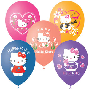 "Шар ""Hello Kitty"" 1ст 3цв 12""/30см в упак(25шт)"