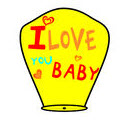 "Фонарик ""I Love You Baby""  yellow"